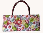 flower embroidery handbag
