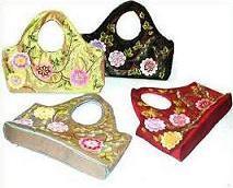 silk embroidery handbag