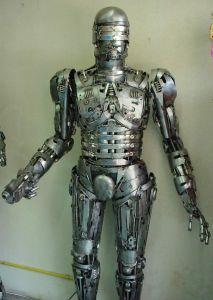 robocop statue scrap metal