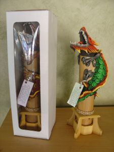 verticle dragon incense holders