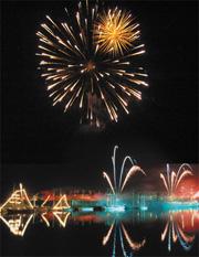 fireworks display arrangement