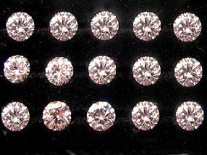 synthetic cubic zirconia gemstone