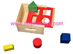 wooden toys block box