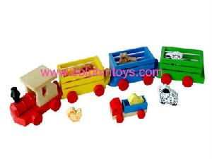 wooden toys pull train