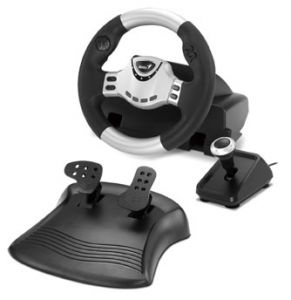 Force Feedback Racing Wheel With Gear Shifter For Pc