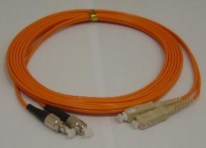 fiber optic patch cord fc sc mm duplex
