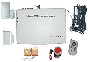 gsm wireless burglar alarms wired protection zones partial disarmed remote telephone