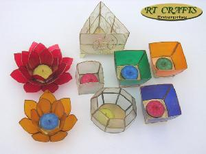 capiz tealight candle holders