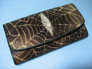 stingray leather wallets crocodile alligator ostrich cowhide purses checkbook clutch
