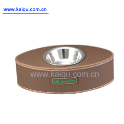 oval pet feeder bowl