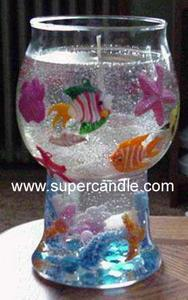 glass embed gel candle