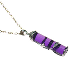 purple crystal pendant pd 18