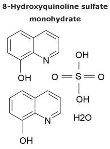 8 hydroxyquinoline sulfate monohydrate