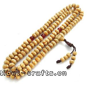 buddhist wood beads necklace