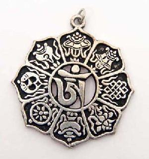 eight auspicious symbols jewellery pendant