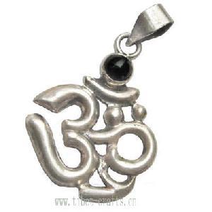 sterling silver 925 om symbol amulet pendant