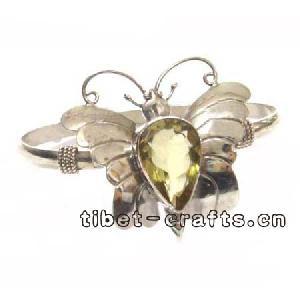 tibetan sterling silver butterfly bracelet