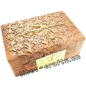 tibetan wood engraved jewelry cases