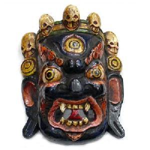tibetan wood mask
