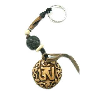 tibetan yak bone key ring
