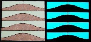 glowing tile miclear ceramic