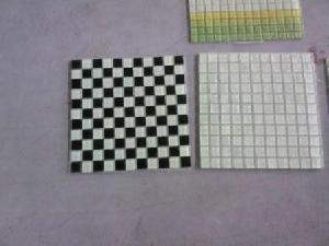 luminescent glass mosaic tiles