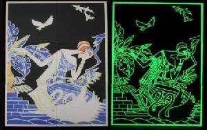 luminous photoluminescent porcelain tiles floor wall bath room swimming polls