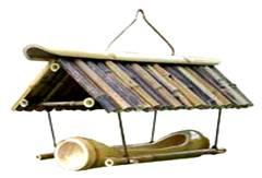 bamboo bird house feeder premium pet