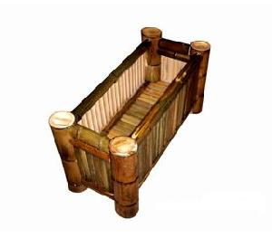 bamboo planter box flower pot