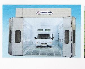 surface cleaning finishing spray painting booth