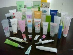 pe colored tube cosmetic