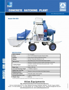 mini concrete batching plant india