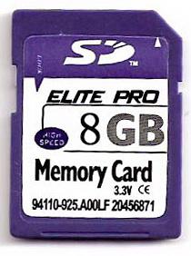 8gb secure digital memory card camera gps