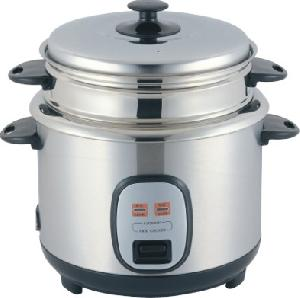 stainless steel straight rice cooker