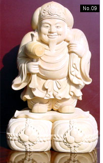 boxwood carved religious statue