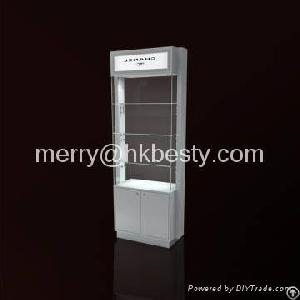 Elegent Watch Glass Display Cabinet With Lock And Lighting
