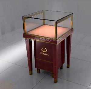 Small Jewelry Display And Crystal Jewelry Cabinet In Store Or Shopping Mall