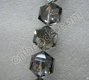 Hexagonal Crystal Beads Diamond Cut Glass Jewelry Parts 2012 Fashion Crafts