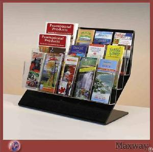 Clear Brochure Display Rack Desk Stand Table Book Holder