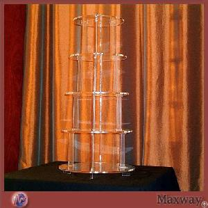 Thickening 5-tier Transparent Plexiglass Pastry Display