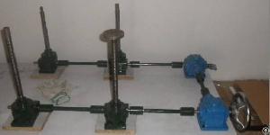 Manually Operate Worm Gear Screw Jacks Lifting Platform