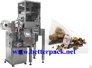 Automatic Triangle Pyramid Nylon Tea Bags Making Packaging Machines