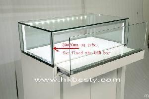 jewelry shop counter glass drawer door