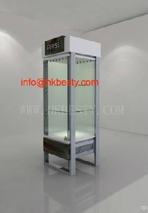 Watch Display Showcase And Glass Cabinet For Kiosk Design