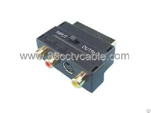 Conversor Rca Audio-video-svideo A Euroconector Scart