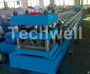W Beam Guardrail Roll Forming Machine Produced By Wuxi Techwell