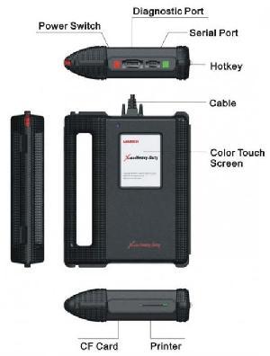 x 431 heavy duty diagnostic cables