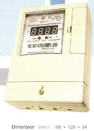 ddsy72 static phase pre payment watt hour meter