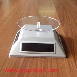 solar rotary display stand motion powered turntable