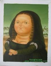 botero oil painting home decoration